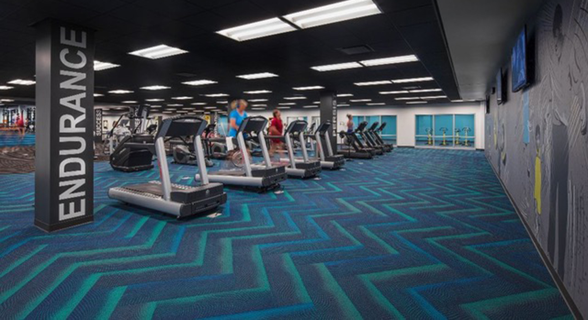 Acuity Gym Cordeck In Floor Cellular Raceway System