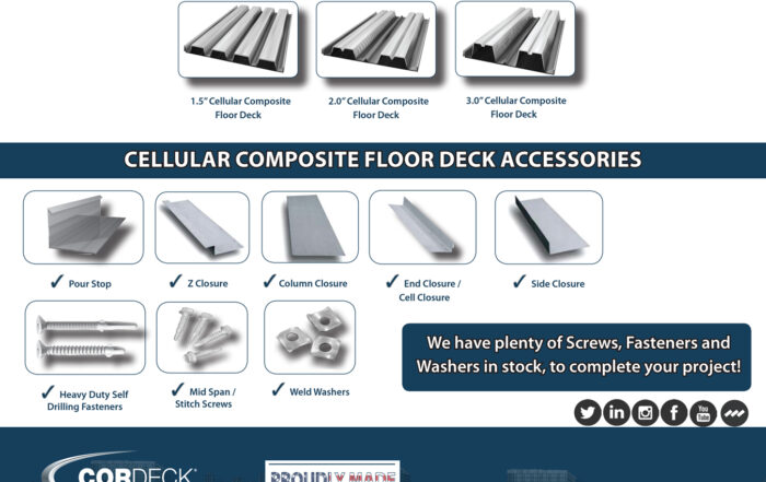 Cellular Composite Floor Deck