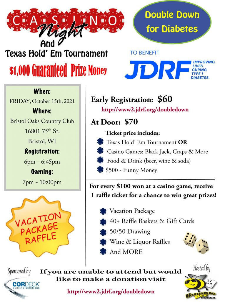 2021 Double Down Jdrf Flyer
